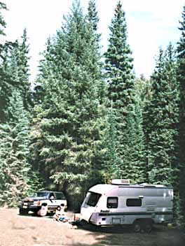 The Oro Grande campgrounds in North Central Idaho.