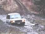 Land Rover Discovery in the mud.